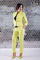 """Летний женский костюм с брюками """"Флэш"""" (яблоко)"""