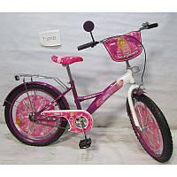 Велосипед TILLY Балеринка 20 T-22021 purple + white, детский велосипед