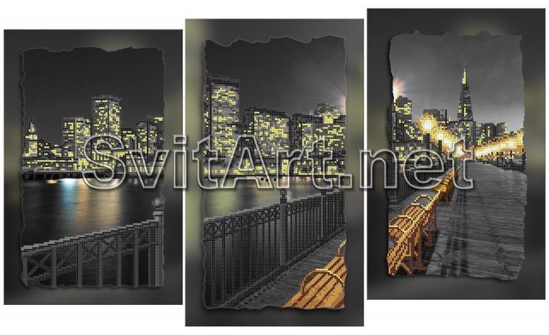 Вышивки бисером ночной город