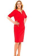 Красное платье с кулоном на горловине, фото 1