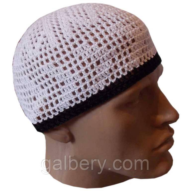 Мужская вязаная шапка от солнца,  ручной работы