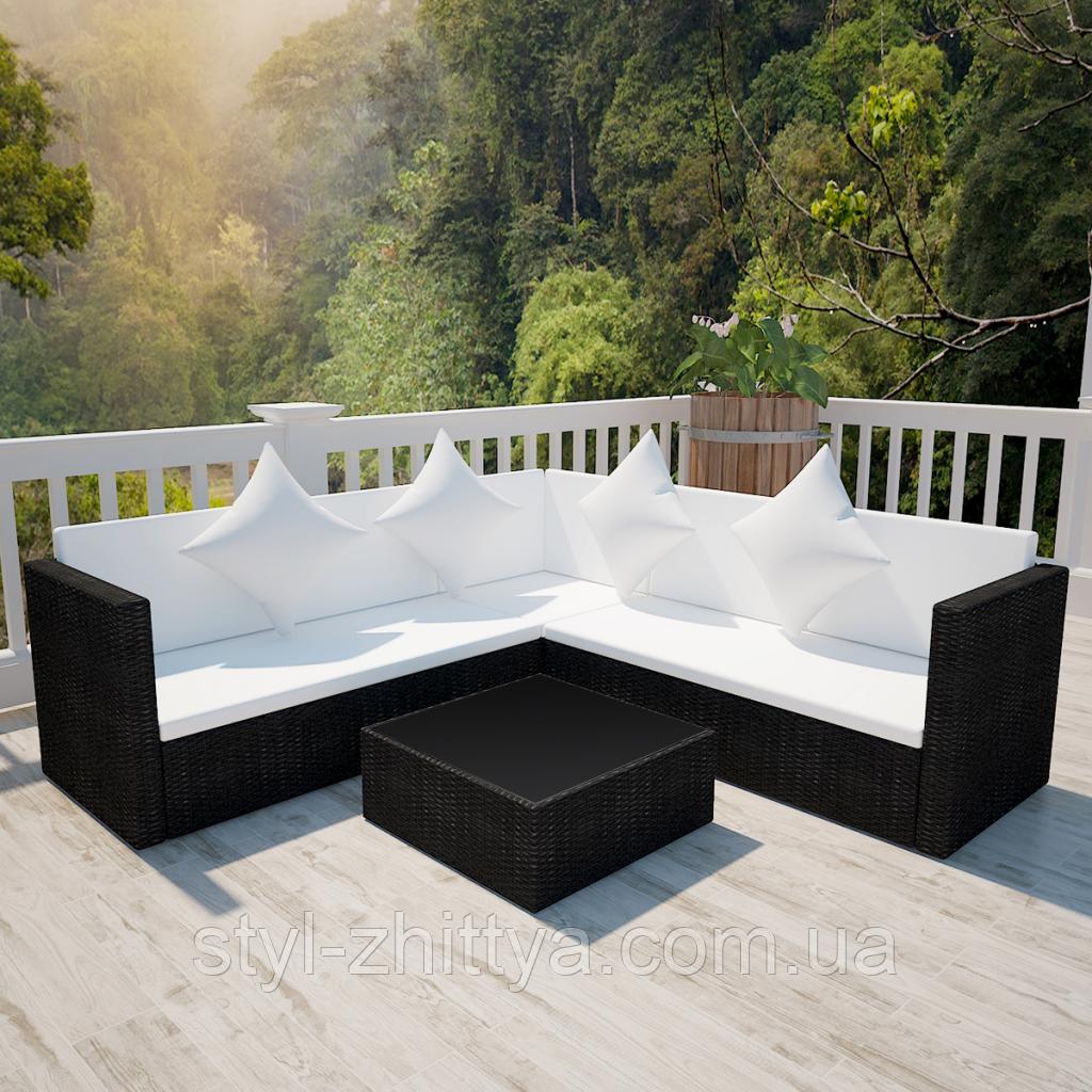 Комплект садових меблів. Кутовий диван