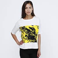 Белая свободная футболка Maria temple от JUNKYARD XX-XY в размере S