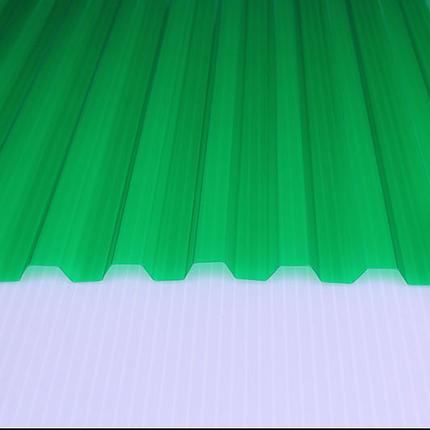 Шифер ПВХ - Трапеция ЗЕЛЕНЫЙ (Salux W 70/18 мм, 1.8*0.9 м), фото 2
