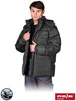 Куртка утепленная овчинкой с отстегивающимися рукавами рабочая Reis Польша (зимняя спецодежда) DARKMOON B