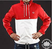 Анорак Ветровка Куртка Fred Perry Цвет Красно-Белый