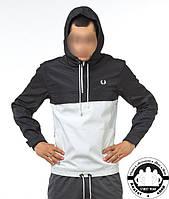 Анорак Ветровка Куртка Fred Perry Цвет Черно-Белый