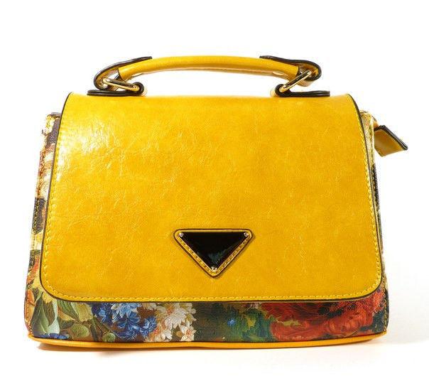 e1bb4f206f79 Сумка-клатч женская малая кожзам желтая Batty 2024 - Интернет-магазин