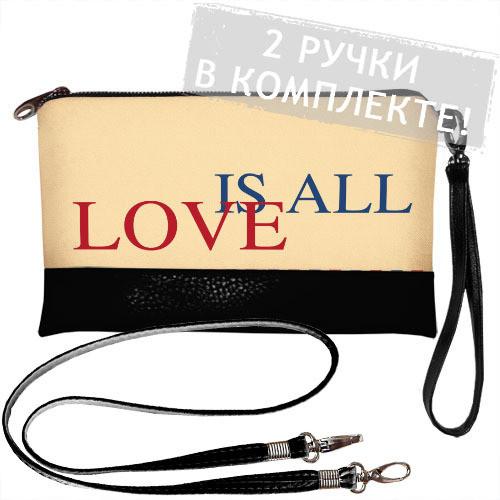 Черный Клатч Love is all