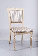 Стул мягкий деревянный Сицилия-Люкс, Слоновая кость (ivory)