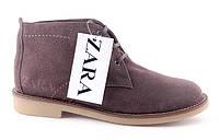 Мужские замшевые ботинки Zara