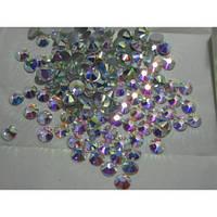 Стразы ss30 Crystal AB (6,5мм) 288шт. gold foil