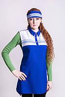 """Рабочая одежда для продавцов,комплект """"Юлия""""( халат-фартук+головной убор), фото 1"""