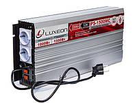 Інвертор 12/220 (перетворювач напруги) Luxeon IPS-1500MC апроксимована синусоїда + зарядний пристрій, фото 1