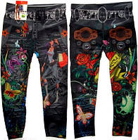 Леггинсы - Капри под джинс бесшовные модель №3