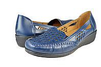 Женские туфли на ортопедической стельке inblu 80-1rсин синие   весенние , фото 1