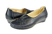 Женские туфли на ортопедической стельке inblu ay-3rч черные   летние , фото 1