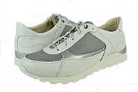 Женские кроссовки кожаные mida 21411бел белые   весенние