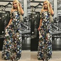 Женское модное платье в пол с-4014