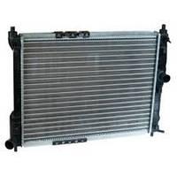 Радиатор водяного охлаждения Daewoo Lanos без кондиционера новый образец (производство AURORA,Польша)