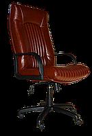 [ Кресло Favorit RD-05 + Подарок ] Офисное кресло с пластиковыми подлокотниками эко кожа коричневый