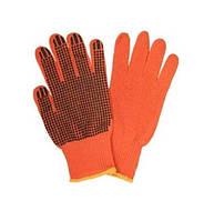 Перчатки Werk WE2105 (х/б с резиновым вкраплением, оранжевые)