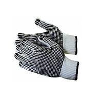 Перчатки Werk WE2119 (х/б с резиновым вкраплением, белые)