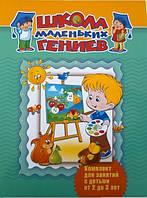 Детская книга Школа маленьких гениев. Для детей 2-3 лет (комплект из 4 книг)