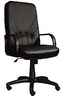 [ Кресло Ibiza D-5 + Подарок ] Офисное кресло с пластиковыми подлокотниками эко кожа черный