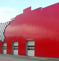 Реечные фасады металлические