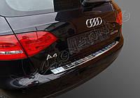 Накладка на бампер с загибом AUDI A4 B8 (2008-...)
