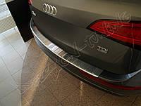 Накладка на бампер с загибом AUDI Q5 (2008-...)