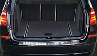 Накладка на бампер с загибом BMW X3 F25 (2014-...) послерест.