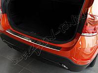 Накладка на бампер с загибом BMW X1 E84 (2009-2012)