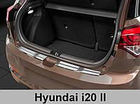 Накладка на бампер с загибом Hyundai i20 (2014-...) hatchback