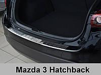 Накладка на бампер с загибом Mazda 3 (2013-...)