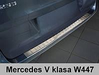 Накладка на бампер с загибом Mercedes W447 V-класс
