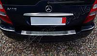 Накладка на бампер с загибом Mercedes A W169 (2004-2008)