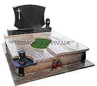 Подвійний гранітний пам′ятник 2119