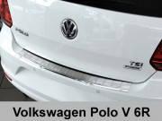 Накладка на бампер с загибом Volkswagen Polo V 6R (2014-...)