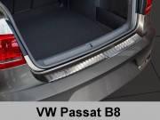 Накладка на бампер с загибом Volkswagen Passat B8 (2014-...)