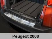 Накладка на бампер с загибом Peugeot 2008 (2013-...)