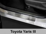 Накладки на пороги Toyota Yaris III (2014-...)