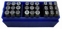 Большой набор для чеканки символов BassPolska 7 мм 1581