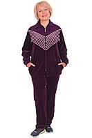 Женский велюровый спортивный костюм (размеры ХЛ-5ХЛ)
