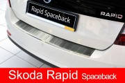 Накладка на бампер с загибом Skoda Rapid Spaceback (2012-...)