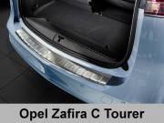 Накладка на бампер с загибом Opel Zafira C Tourer (2012-...)