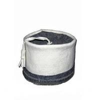Шапка для сауны Феска светло-серый войлок ПРО