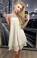 """Платье """"Лилия"""", крем.+беж."""