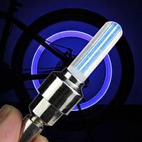 Неоновая подсветка колес на ниппеле, синяя
